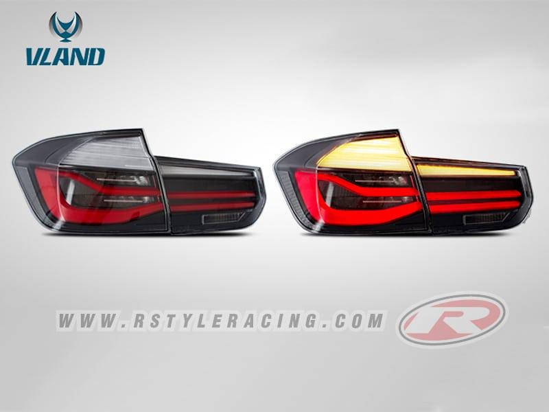 ไฟท้าย LED สำหรับ BMW F30 พื้นดำโคมขาว งาน VLAND R-Style Racing ชุดแต่งรอบคัน และ ประดับยนต์